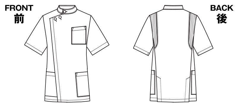 1010CR FOLK(フォーク) メンズケーシー(男性用) ハンガーイラスト・線画