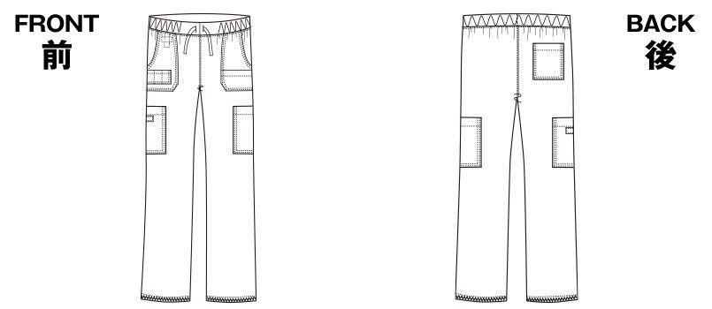 5017SC FOLK(フォーク)×Dickies カーゴパンツ 総ゴム(男性用) ハンガーイラスト・線画