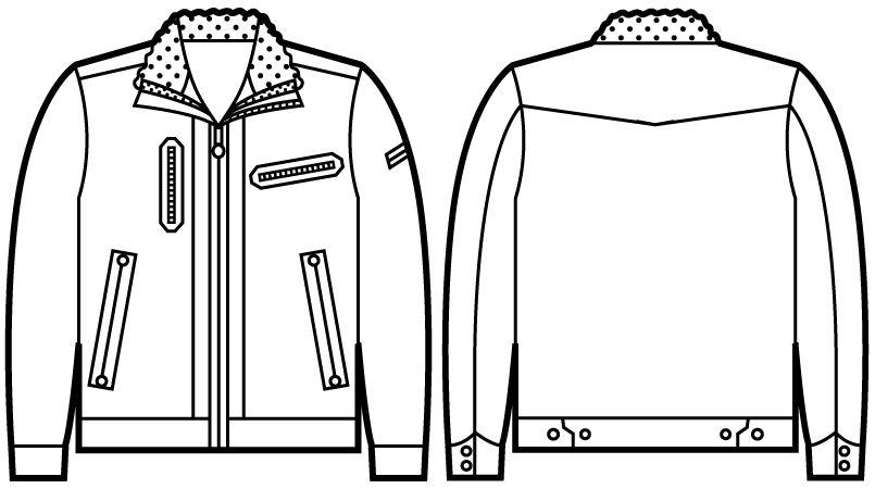 自重堂 58100 JAWIN 防寒ジャンパー ハンガーイラスト・線画