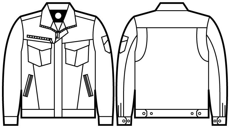 自重堂 71000 [秋冬用]Z-DRAGON ストレッチジャンパー ハンガーイラスト・線画