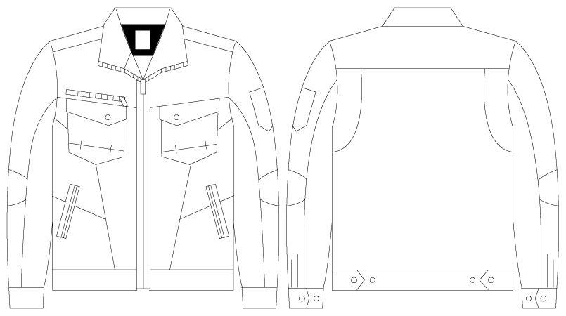 自重堂Z-DRAGON 75200 [春夏用]綿100%長袖ジャンパー(男女兼用) ハンガーイラスト・線画