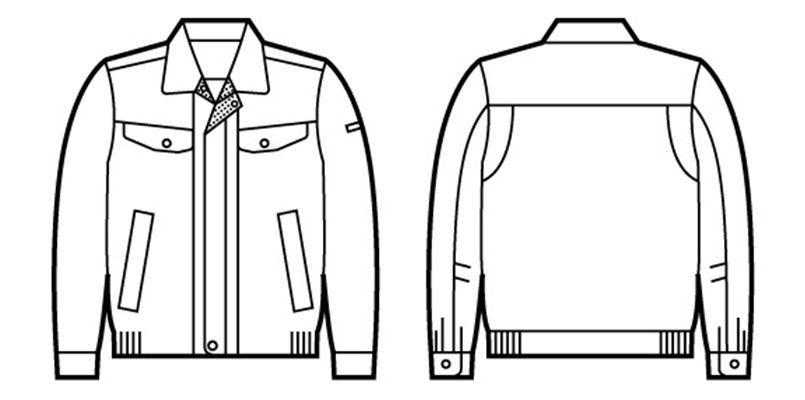 自重堂 80400 エコ高制電長袖ブルゾン(IEC制電適合) ハンガーイラスト・線画