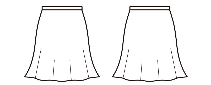 en joie(アンジョア) 51753 長時間の着用でも疲れにくいツイードのフレアースカート(53cm丈) ハンガーイラスト・線画