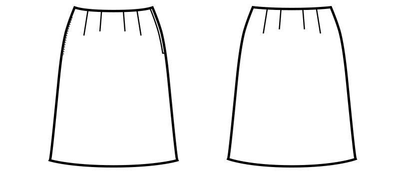 en joie(アンジョア) 51873 Aラインスカート 無地 ハンガーイラスト・線画