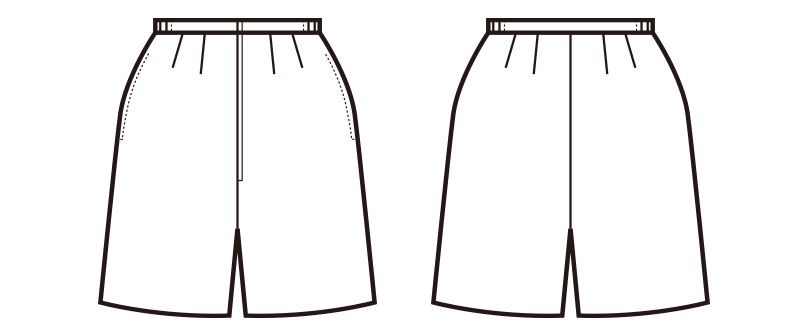 en joie(アンジョア) 71076 エコ素材でプチプラの脇ゴムキュロットスカート 無地(50cm丈) ハンガーイラスト・線画
